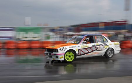 Cluj Napoca,Romania ,September 19th 2009: Car during the Drift King of Europe championship Stock Photo - 9232312