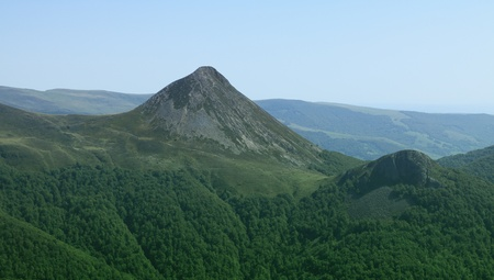 massif: Image of Puy Griou(1694 m) located in The Central Massif in Auvergne region in France.
