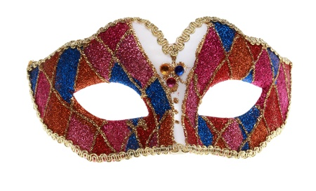Venetian mask isolated against a white background. photo