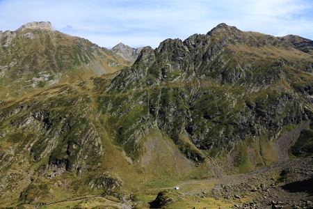 vicinity: Beautiful mountain landscape located in Pyrenees Mountains in the vicinity of Lac DAnglas. Stock Photo