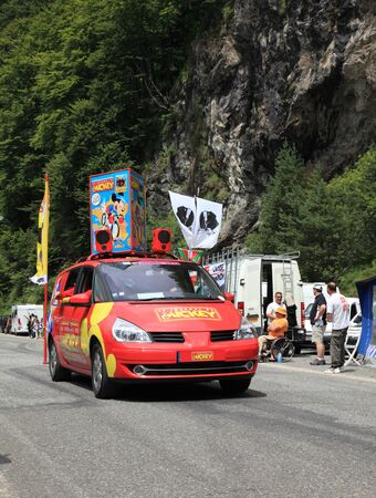 Beost,France,July 15th 2011:Image of the car advertising the magazine