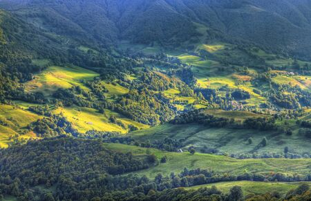massif: Beautiful volcanic valley situated in the Central Massif in the centre of France.