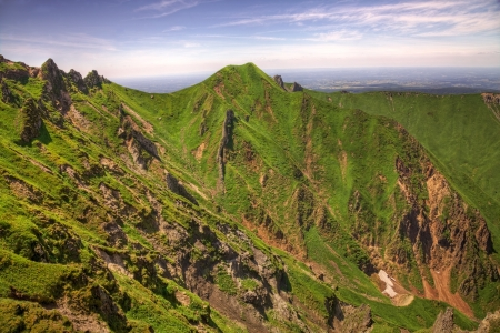 massif: Rocky landscape in Puy de Sancy which is the highest mountain in the Central Massif in central France.