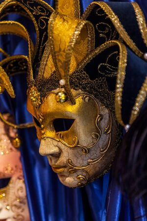 Closeup image of a nice Venetian mask. photo