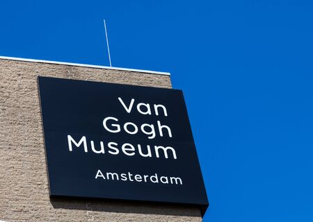 van gogh: Amsterdam, Netherland- April 22, 2012: Image of the top of the Van Gogh Museum building in Amsterdam.