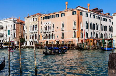 Venice,Italy- February 25th, 2011: The image shows a gondola -