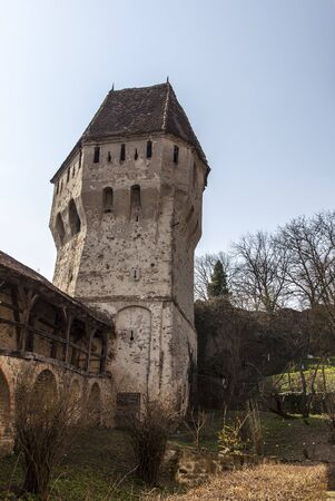 Image of The Tin Coaters Tower from the Sighisoara citadel located in the heart of Transylvania,Romania Stock Photo - 17451699