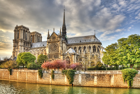 Notre Dame Cathedral in Paris located on the Ile de la Cite is one of the most famous Gothic Cathedral in the world  photo