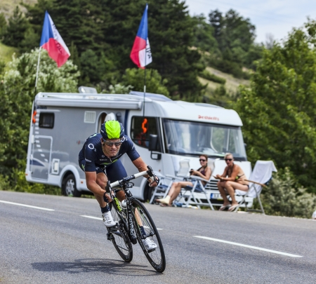 joaquin: Chorges, France- July 17, 2013  The Spanish cyclist Jose Joaquin Rojas Gil from Movistar Team pedaling during the stage 17 of 100th edition of Le Tour de France 2013, a time trial between Embrun and Chorges