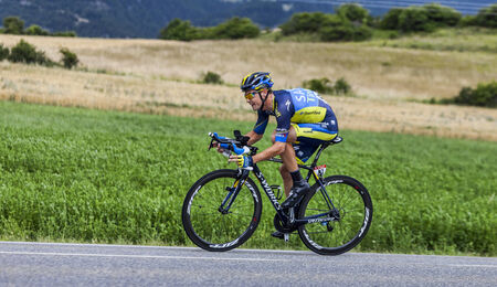 Chorges, France- July 17, 2013  The Irish cyclist Nicolas Roche from Saxo-Tinkoff Team pedaling during the stage 17 of 100th edition of Le Tour de France 2013, a time trial between Embrun and Chorges  Editorial