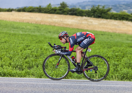 evans: Chorges, France- July 17, 2013  The Australian cyclist Cadel Evans from BMC Racing Team pedaling during the stage 17 of 100th edition of Le Tour de France 2013, a time trial between Embrun and Chorges  Editorial