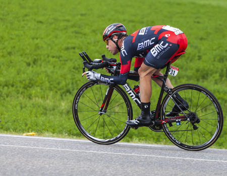 mount evans: Chorges, France- July 17, 2013  The Australian cyclist Cadel Evans from BMC Racing Team pedaling during the stage 17 of 100th edition of Le Tour de France 2013, a time trial between Embrun and Chorges  Editorial