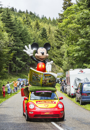 disney: Col de Platzerwasel, France - July 14, 2014: Mickey Mouse Editorial