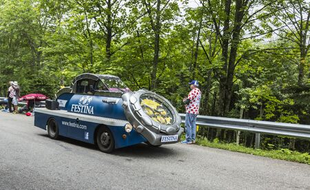 carrefour: Le Markstein, France- July 13, 2014:The fancy Festina
