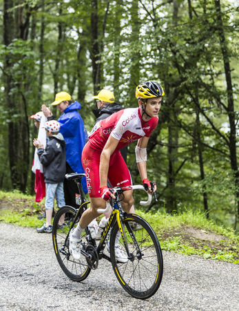 rudy: Col de Platzerwasel,France - July 14, 2014: The cyclist Rudy Molard of CofidisTeam, climbing the mountain pass Platzerwasel in Vosges Mountains during the during the stage 10 of Le Tour de France 2014 Editorial