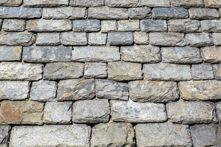 Close-up image of a traditional slated roof in Brittany,France. photo