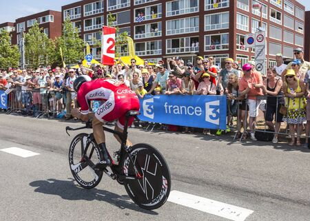 utrecht: Utrecht,Netherlands - 04 July 2015: The French cyclist Geoffrey Soupe of Cofidis Team riding during the first stage individual time trial  of Le Tour de France 2015 in Utrecht,Netherlands on 04 July 2015.