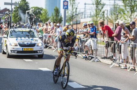 steve: Utrecht,Netherlands - 04 July 2015: The English cyclist Steve Cummings of   MTN-Qhubeka Team riding during the first stage individual time trial  of Le Tour de France 2015 in Utrecht,Netherlands on 04 July 2015. Editorial