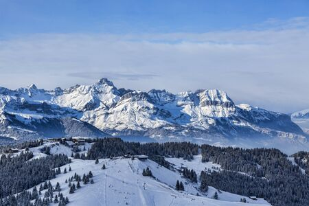 domain: Ski domain located at high altitude in Alps in  Beaufortain Massif in Haute-Savoie close to Mont Blanc.