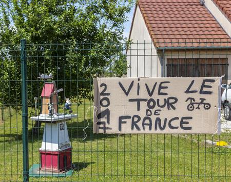 Magny-Fouchard, France - 6 July, 2017: Handwritten