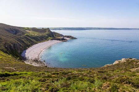 Beau paysage au Cap d'Erquy en Bretagne dans le Nord de la France. Banque d'images