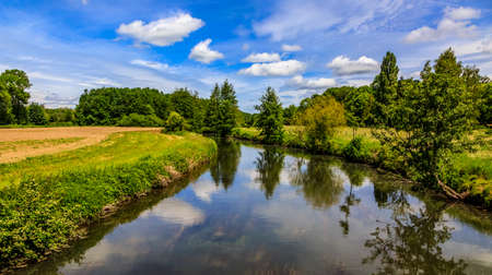 Image of the Eure River in Central France.