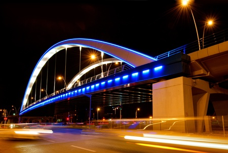 bucharest: Basarab bridge in the night, Bucharest, Romania