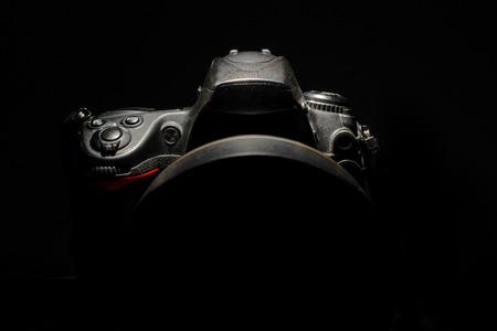 detail of professional digital photo camera Stok Fotoğraf