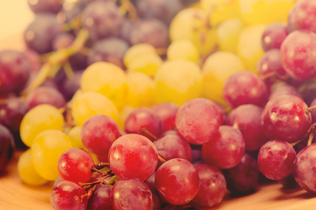 red grapes on table