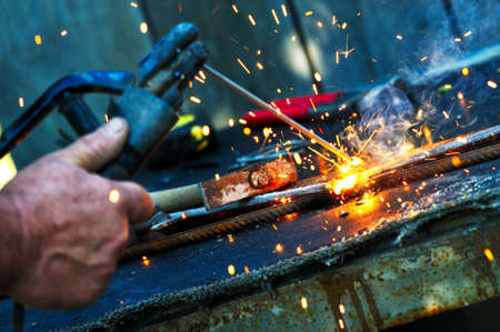 welding close-up bright light