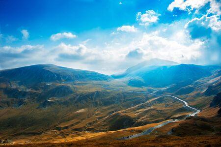 Transalpina, the highest altitude road in Romania, crossing the Parang mountains Stok Fotoğraf