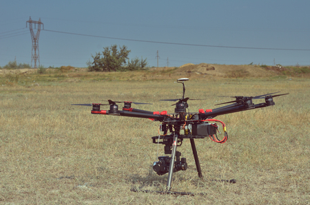 Professional carbon drone with GPS