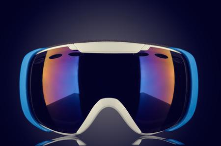 Brand new ski goggles isolated