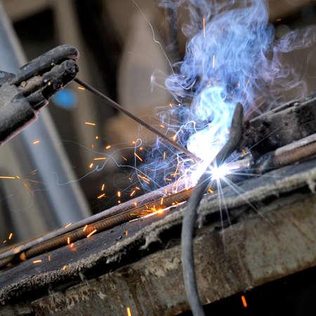 welding closeup bright light Stok Fotoğraf