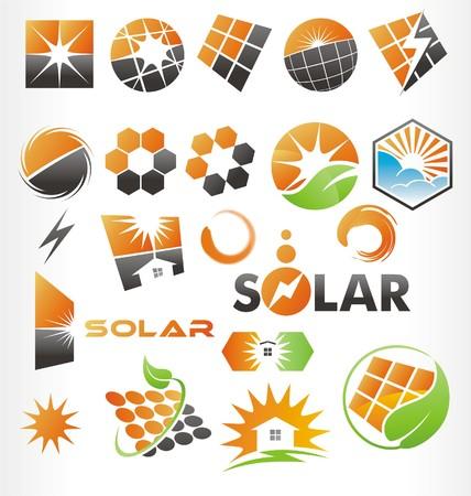 Vecteur ou icônes solaire Banque d'images - 30930554