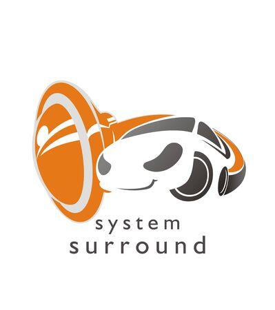 Car service symbol. Installation accessories. Excellent logo for vehicle service. Illustration