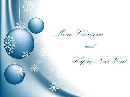 newyear: Feliz Navidad y feliz nuevo a�o tarjeta de felicitaci�n con copyspace