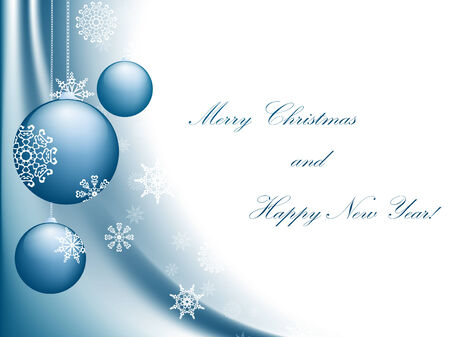 newyear: Merry Christmas and Happy New year greeting card with copyspace