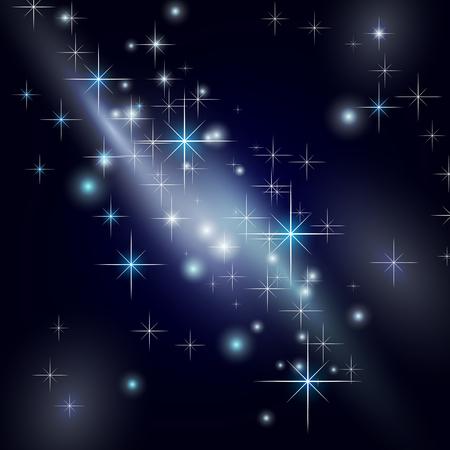 galaxy night star sky Stock Vector - 8056867