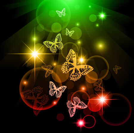 Bright butterfly background  Stock Illustratie