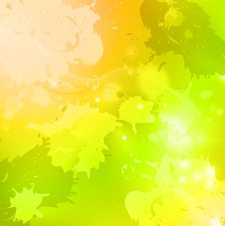 luce verde e giallo acquerello sfondo