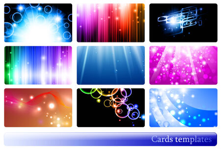 variety of 9 horizontal abstract business cards templates