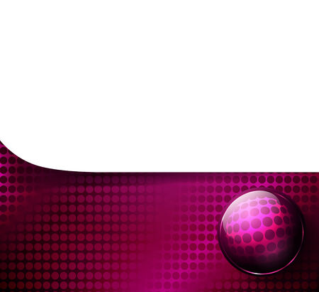template over tech background with glossy ball Vector