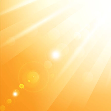 sunbeams: illustration of warm sun rays