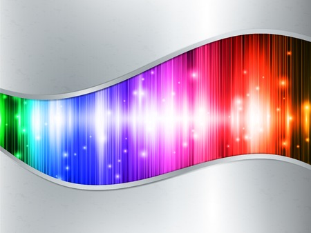 Rainbow multicolored abstract bright background in metal frame