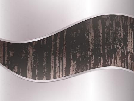 dark wooden background in metal frame Stock Vector - 8928588