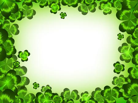 stpatrick: St.Patrick holiday clover frame, copyspace Illustration