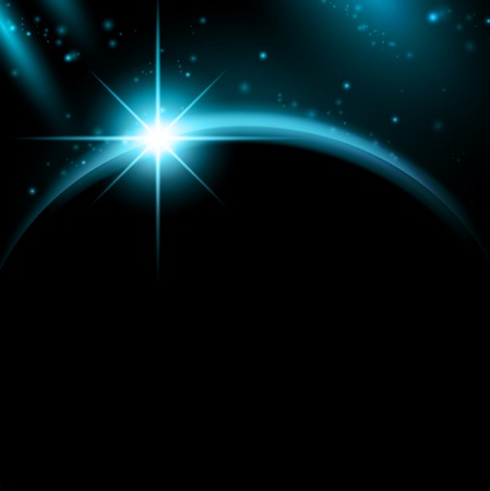 space in night with copyspace for your text Stock Vector - 9093442