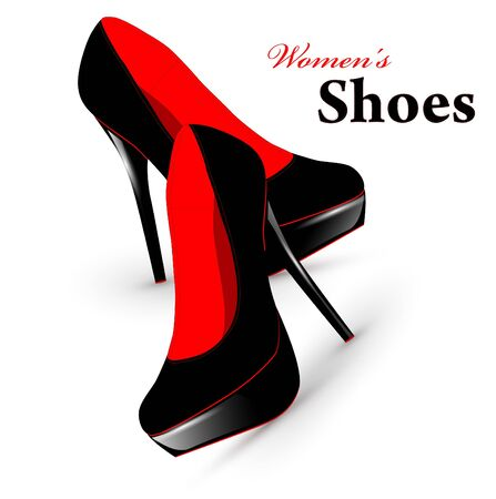 Illustration of fashion high heel woman shoes Çizim