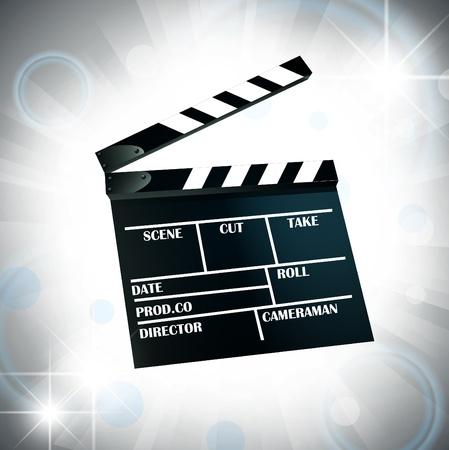 film cracker over bright star background Vector